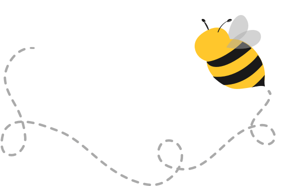 A cartoon bee