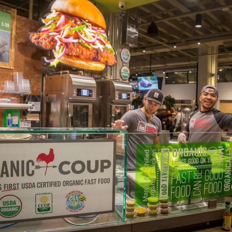 Organic Coup employees at Market location
